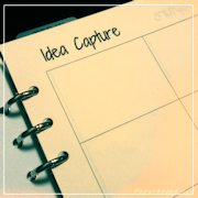 Ideas Capture Printable Organiser Page