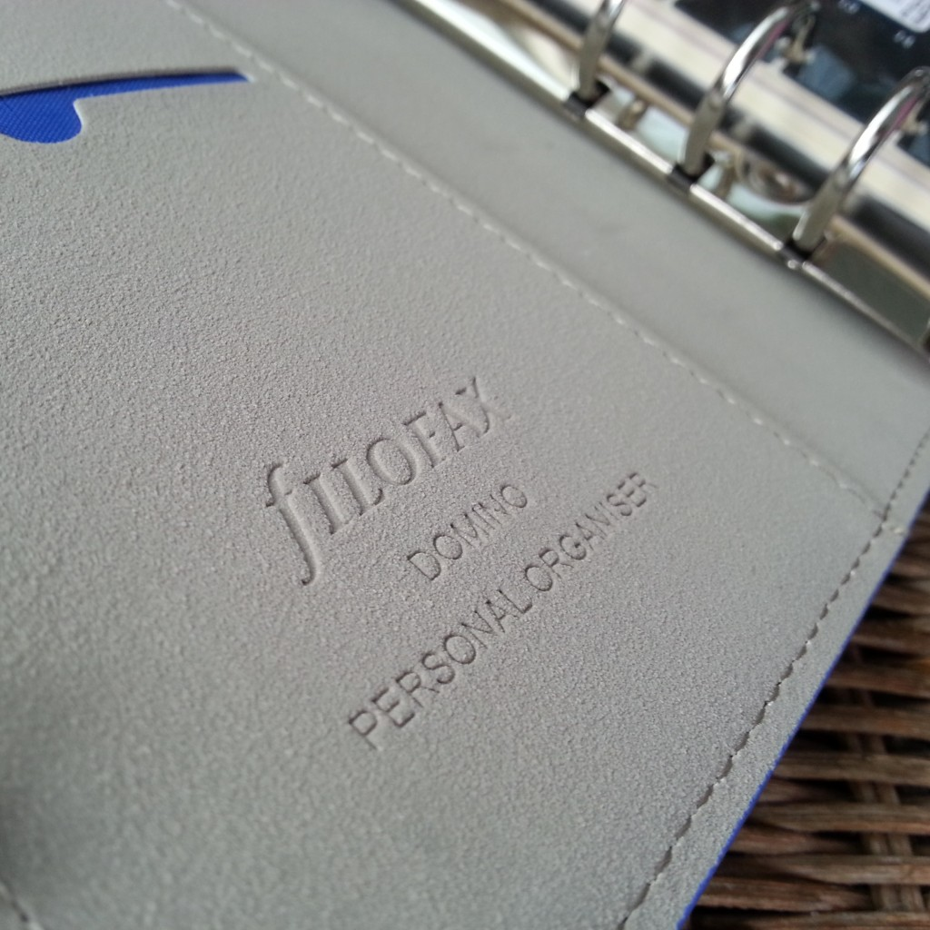 Filofax Domino Personal Electric Blue - Inside Branding