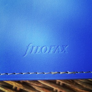Filofax Domino Personal Electric Blue - Logo On Back