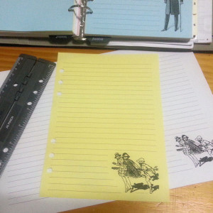Paperbased_A5_Notepaper_Girls_Running_Example