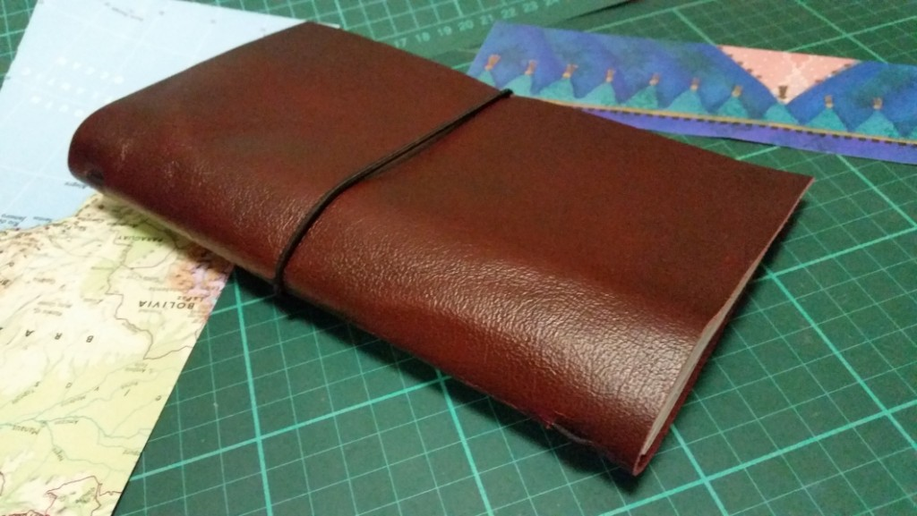 Homemade traveler's notebook cover