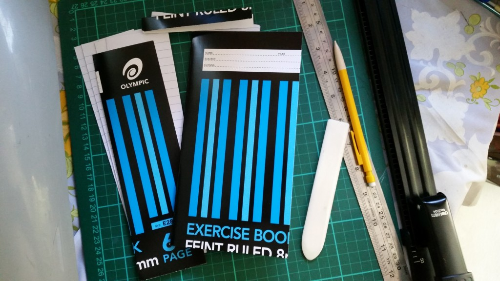 Re-sized exercise book